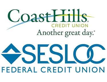 Coast Hills Credit Union and SESLOC Federal Credit Union Logos